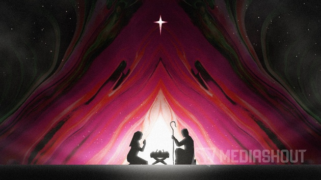 Painted Christmas Nativity