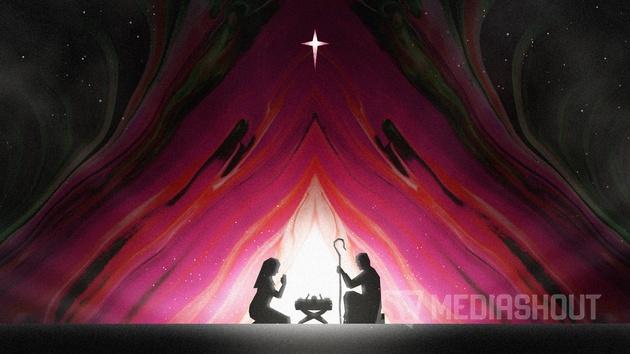 Painted Christmas Nativity