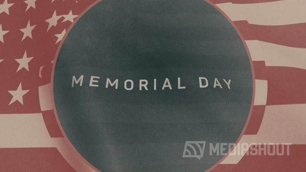 Vintage Waving American Flag Memorial Day
