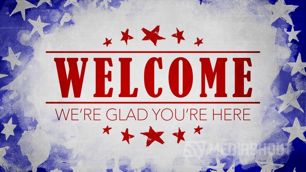 USA Holiday Grunge Welcome